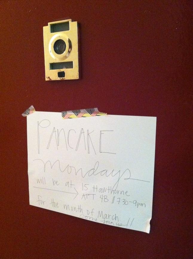 the sign on my door...